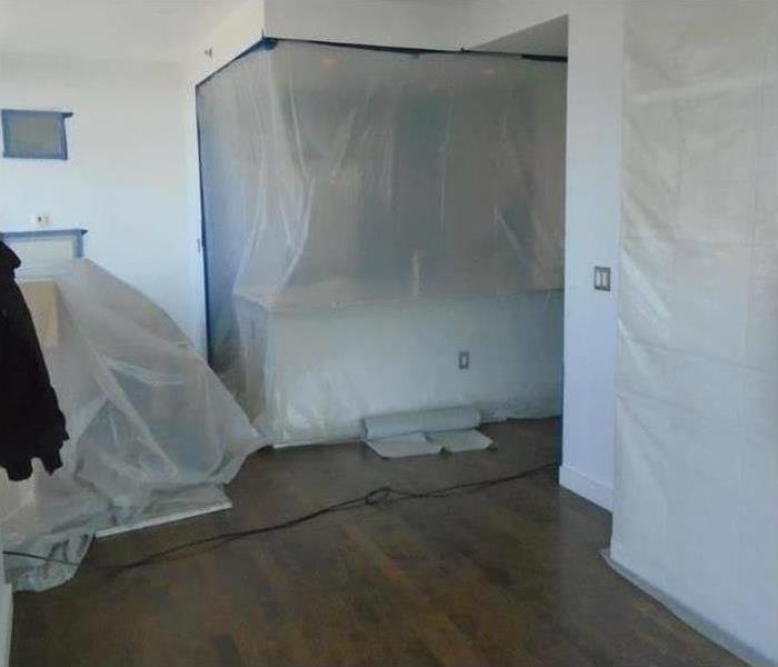 containment areas during mold removal process
