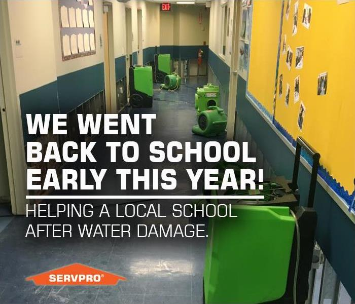 Water Damage SERVPRO of Oakdale / North Bay Shore went Back to School Early, Helping a Long Island School with Restoration After Water Damage.